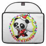 Feliz Navidad - oso de panda lindo del dibujo anim Funda Macbook Pro
