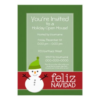 Christmas Party Planning Holiday Open House Invitations Web
