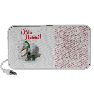 Feliz Navidad - pato del duende del ayudante de Altavoz