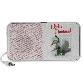 Feliz Navidad - pato del duende del ayudante de Notebook Altavoz