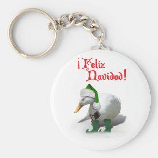 Feliz Navidad - pato del duende del ayudante de Llaveros