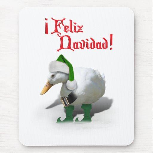 Feliz Navidad - pato del duende del ayudante de Sa Alfombrilla De Ratón