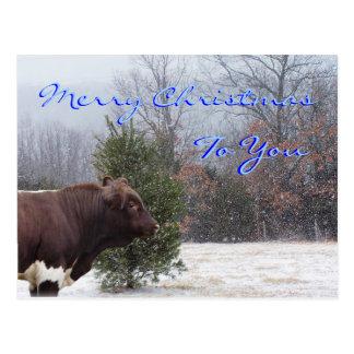 Feliz Navidad-personalizar de PLB Tarjeta Postal