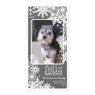 Feliz Navidad Photo Card: Let It Snow!
