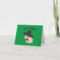 Feliz Navidad! Pig Holiday Card