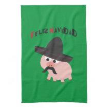 Feliz Navidad! Pig Kitchen Towel