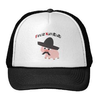 Feliz Navidad! Pig Trucker Hat