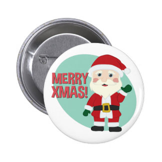 Feliz Navidad Pin Redondo De 2 Pulgadas