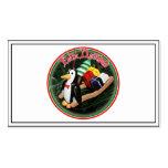 Feliz Navidad - pingüino con el ornamento del trin Tarjeta De Visita