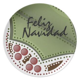 Feliz Navidad Plato - Spanish Dinner Plates