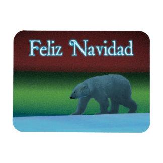 Feliz Navidad - Polar Lights Polar Bear Magnet