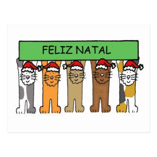 Feliz Navidad portuguesa Postal