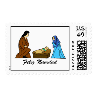 Feliz Navidad Postage Stamps