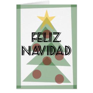 Feliz Navidad Prospero Ano Nuevo Tarjeta -Notecard Card