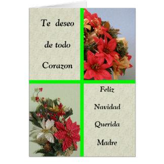Feliz Navidad Querida Madre Card