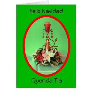 Feliz Navidad Querida Tia Tarjeta De Felicitación