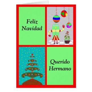 Feliz Navidad Querido Hermano Tarjeta De Felicitación