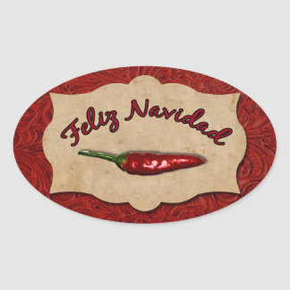 Feliz Navidad Red Leather Chili Pepper Seal