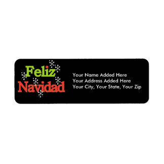 Feliz Navidad Return Address Labels