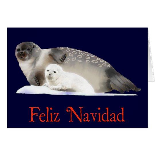 Feliz Navidad - Ringed Seal Card