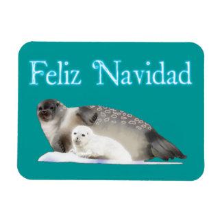 Feliz Navidad - Ringed Seal Magnet