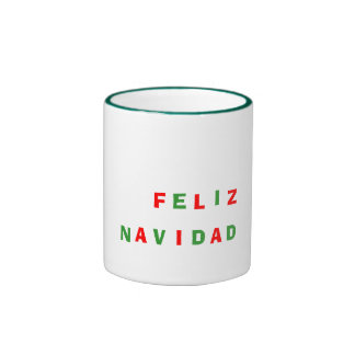 Feliz ,  Navidad Ringer Mug