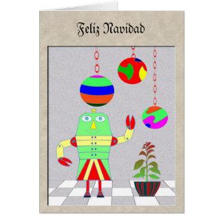 Feliz Navidad robot Card
