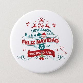 Feliz Navidad Round Button