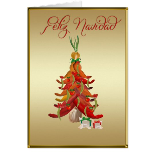 Feliz Navidad  Salsa Card