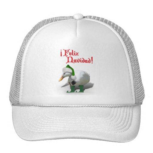 Feliz Navidad - Santa's Helper Elf Duck Trucker Hat