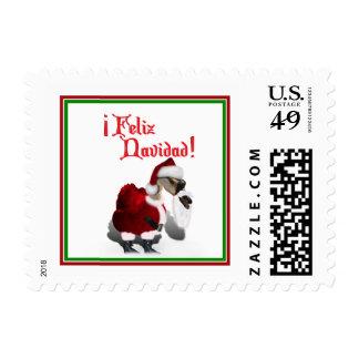 Feliz Navidad - Silly Santa Goose Postage