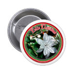 Feliz Navidad - Silver Poinsettia Ornament Pins