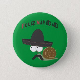 Feliz Navidad Snail Button