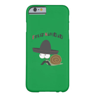 Feliz Navidad Snail Barely There iPhone 6 Case