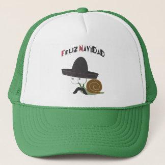 Feliz Navidad Snail Trucker Hat