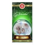 Feliz Navidad Snow Globe Personalized Photo Card