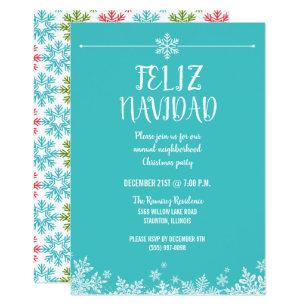 Feliz Navidad Party Invitations Zazzle