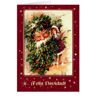 Feliz Navidad Spanish Vintage Christmas Cards | Zazzle