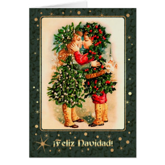 Feliz Navidad Spanish Vintage Christmas Cards - Invitations ...