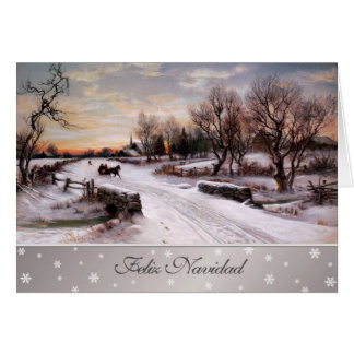 Feliz Navidad. Spanish Christmas Greeting Cards
