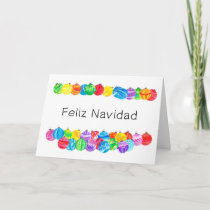 Feliz Navidad Spanish Christmas , watercolor Holiday Card