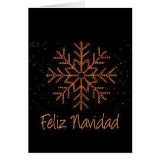 Feliz Navidad Spanish  Crystal Lights Card