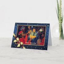 Feliz Navidad . Spanish Customizable Greeting Card