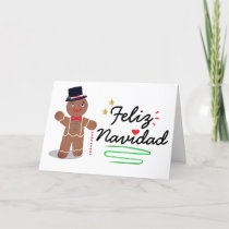 """Feliz Navidad"" Spanish Merry Christmas Holiday Card"