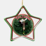 Feliz Navidad - Special Delivery Santa Ornament Ornaments