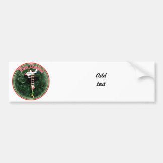 Feliz Navidad - Special Delivery Santa Ornament Car Bumper Sticker