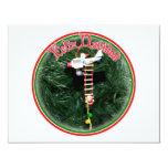 """Feliz Navidad - Special Delivery Santa Ornament 4.25"""" X 5.5"""" Invitation Card"""