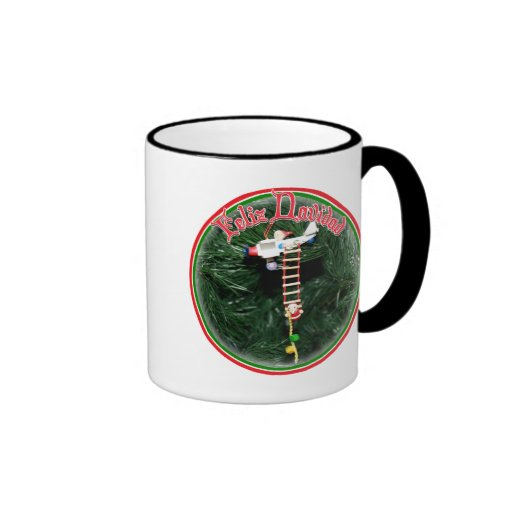 Feliz Navidad - Special Delivery Santa Ornament Mug