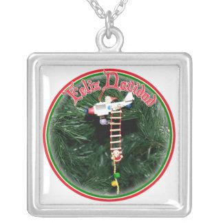 Feliz Navidad - Special Delivery Santa Ornament Custom Necklace
