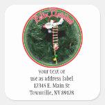 Feliz Navidad - Special Delivery Santa Ornament Stickers